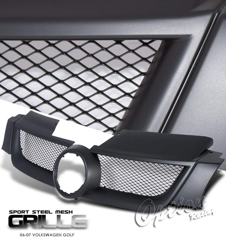 Volkswagen Golf 2006-2007  Steel Mesh Style Black Front Grill