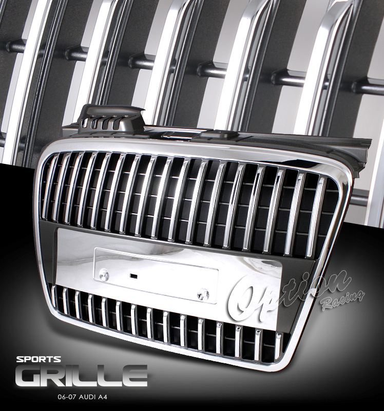 Audi A4 2006-2007  Chrome Front Grill