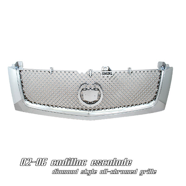 Cadillac Escalade 2002-2006  Diamond Style Chrome Front Grill