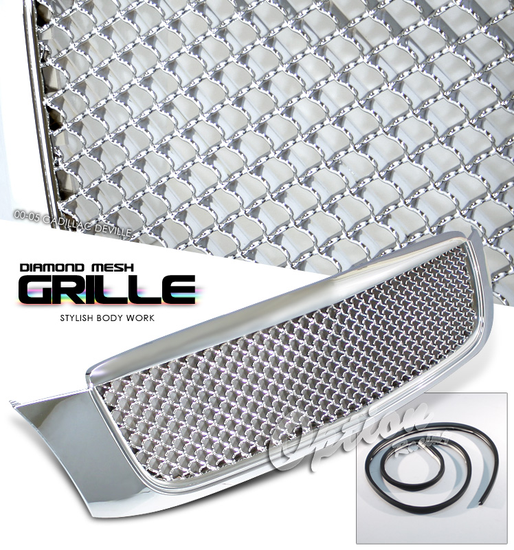 Cadillac Deville 2000-2005  Diamond Style Chrome Front Grill