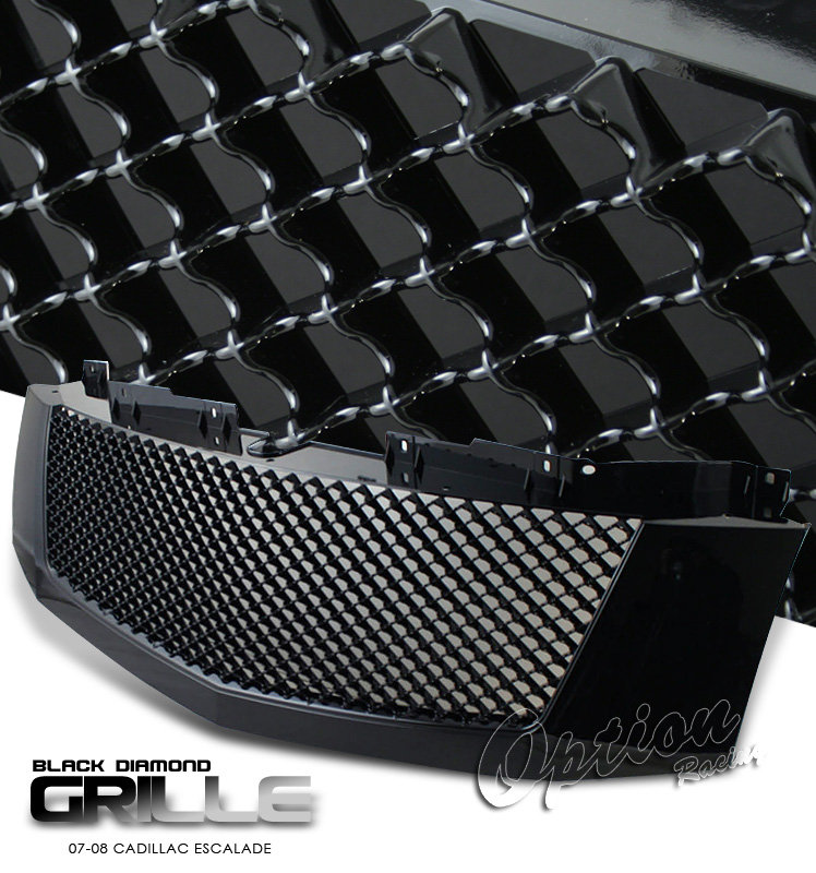 Cadillac Escalade 2007-2008  Diamond Style Black Front Grill
