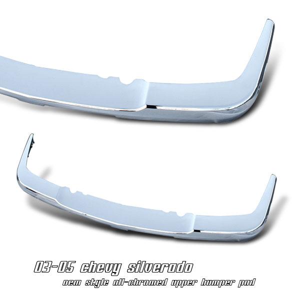 Chevrolet Silverado 2003-2005  Upper Bumper Pad Front Grill