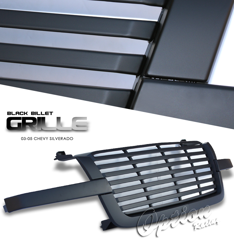 Chevrolet Silverado 2003-2005  Billet Style Chrome Front Grill