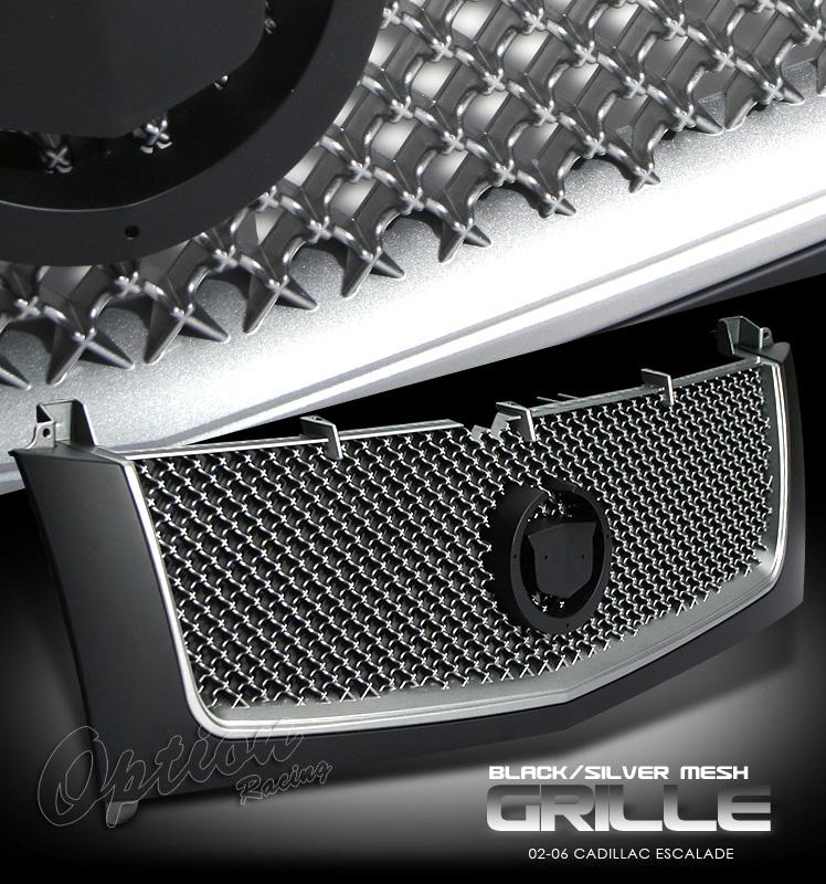 Cadillac Escalade 2002-2006  Diamond Silver / Primed Front Grill