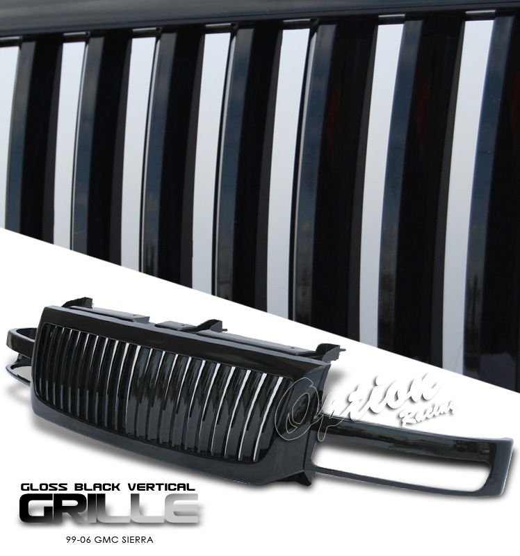 Gmc Sierra 1999-2006  Vertical Style Black Front Grill