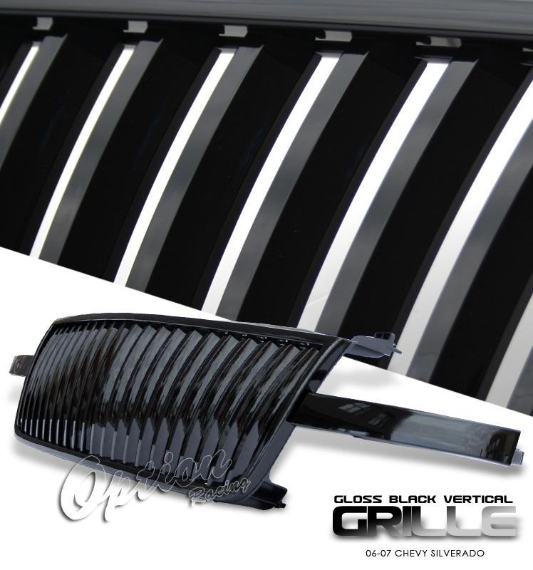 Chevrolet Silverado 2006-2007  Vertical Style Black Front Grill
