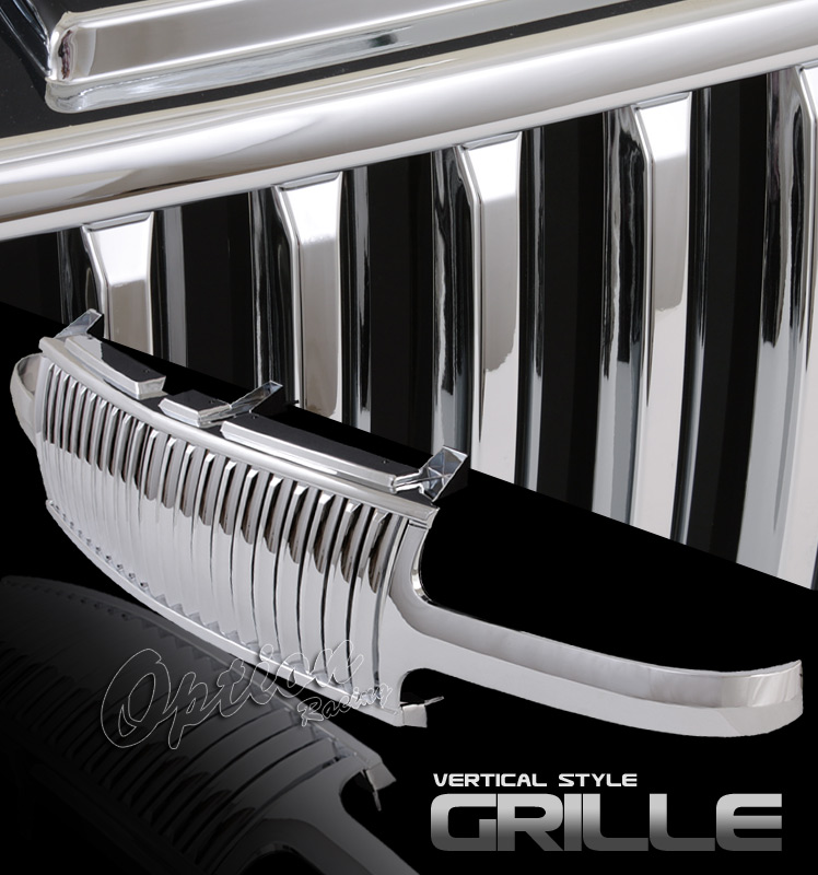 Chevrolet Silverado 1999-2002  Vertical Style Chrome Front Grill