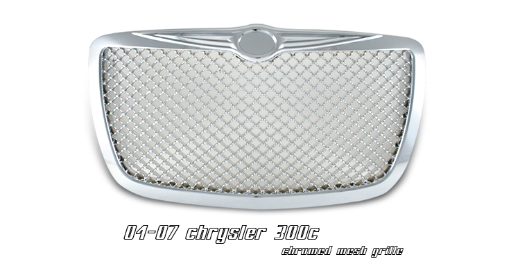 Chrysler 300c 2005-2007  Diamond Style Chrome Front Grill