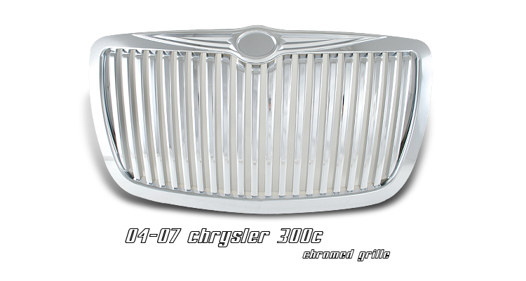 Chrysler 300c 2005-2007  Vertical Style Chrome Front Grill