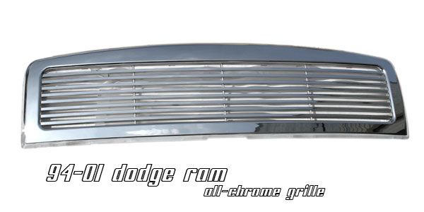 Dodge Ram 1994-2001  Billet Style Chrome Front Grill
