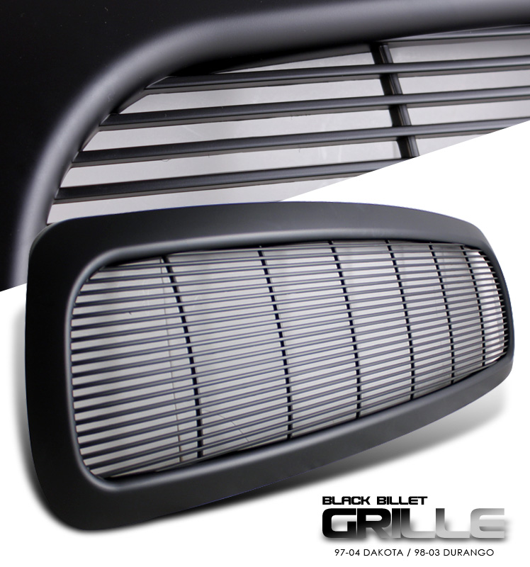 Dodge Dakota 1997-2004  Billet Style Black Front Grill