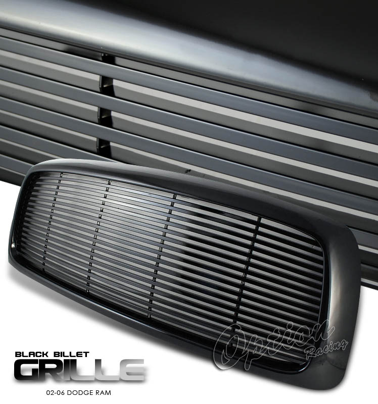 Dodge Ram 2002-2005  Billet Style Black Front Grill