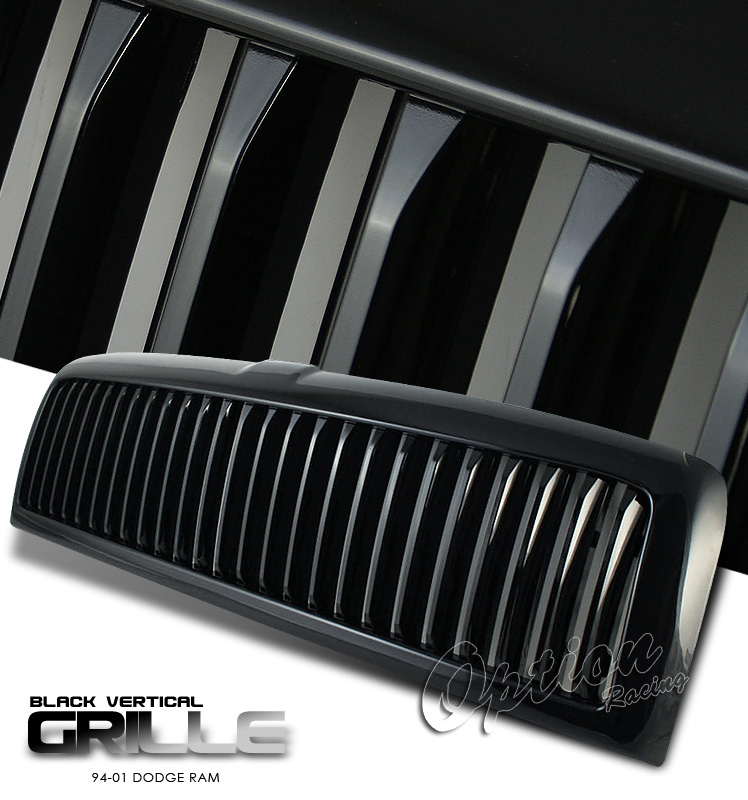 Dodge Ram 1994-2001  Vertical Style Black Front Grill
