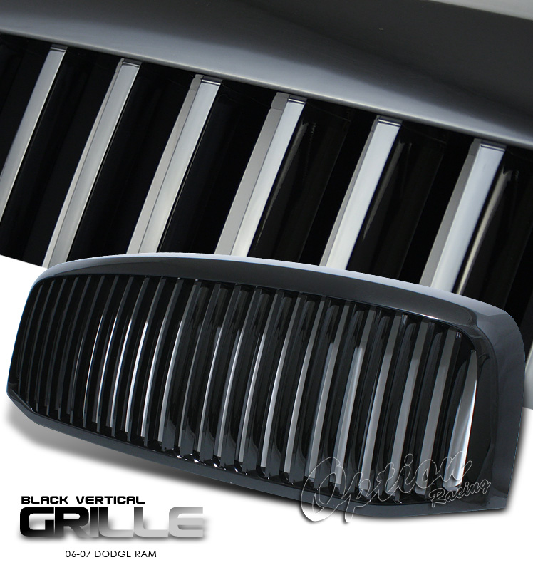 Dodge Ram 2006-2007  Vertical Style Black Front Grill
