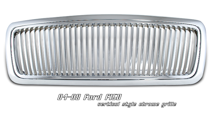 Ford F150 2004-2008  Vertical Style Chrome Front Grill