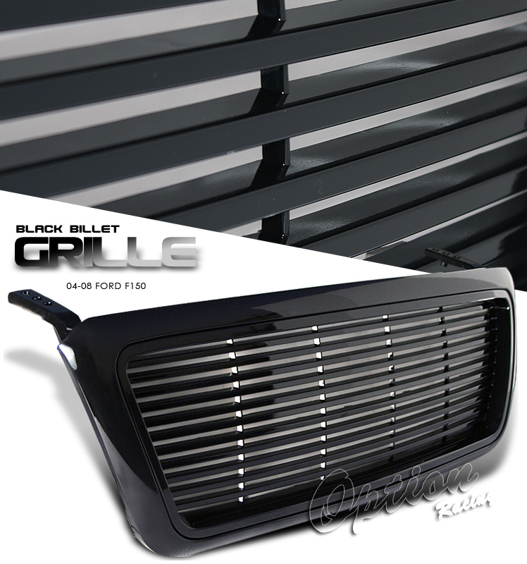 Ford F150 2004-2008  Level Style Black Front Grill