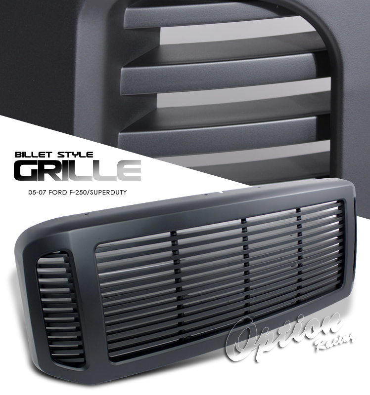 Ford Super Duty 2005-2007  Billet Style Black Front Grill