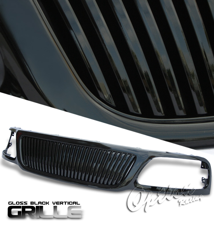 Ford Expedition 1999-2002  Vertical Style Black Front Grill