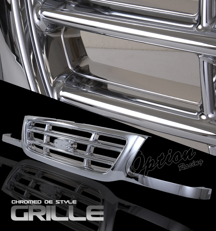 Ford Ranger 2001-2003  Factory Style Chrome Front Grill
