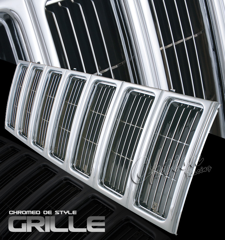Jeep Cherokee 1997-2001  Factory Style Chrome Front Grill