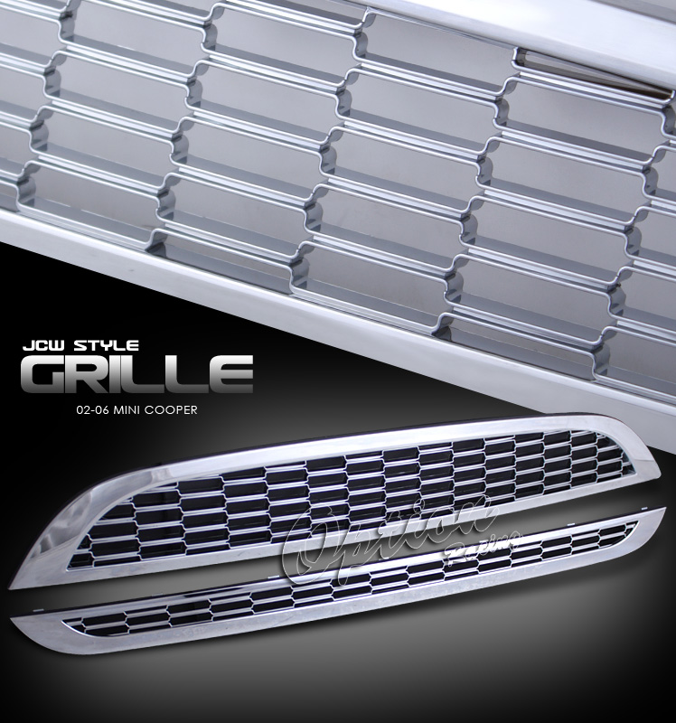 Mini Cooper 2002-2006  Jcw Style Chrome Front Grill