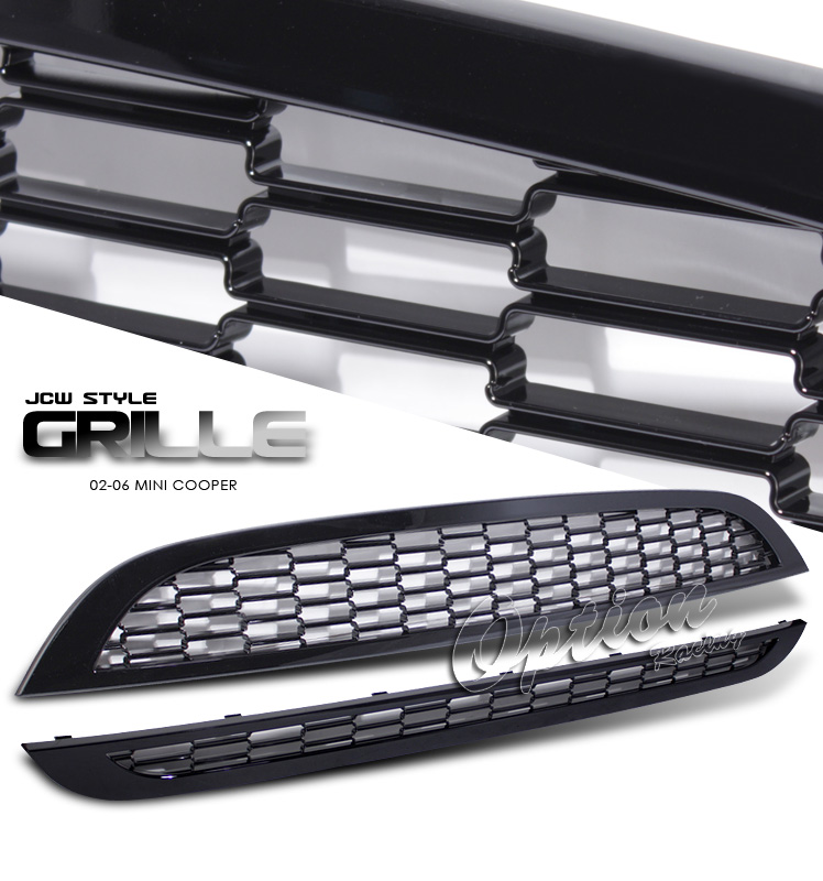 Mini Cooper 2002-2006  Jcw Style Black Front Grill