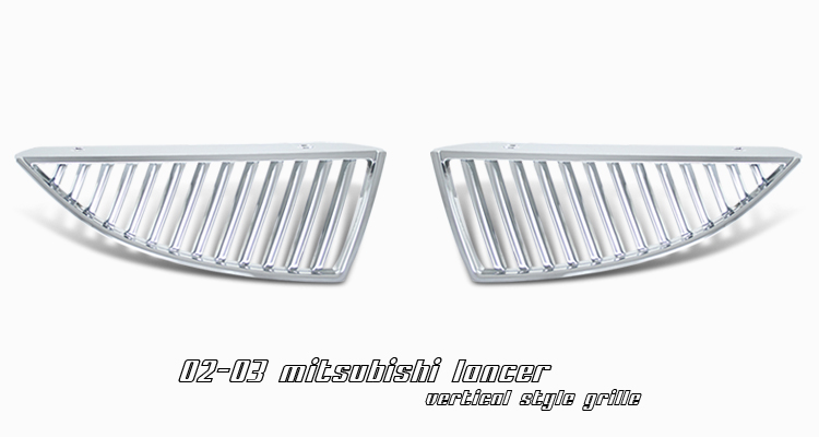 Mitsubishi Lancer 2002-2003  Vertical Style Chrome Front Grill