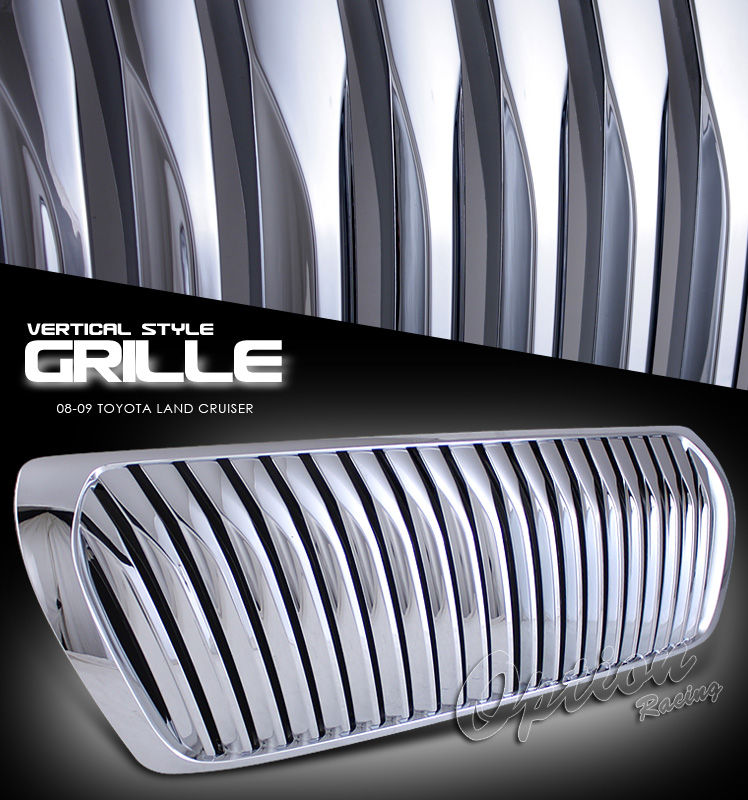Toyota Land Cruiser 2008-2009  Vertical Style Chrome Front Grill