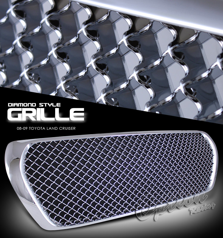 Toyota Land Cruiser 2008-2009  Diamond Style Chrome Front Grill