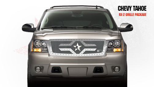 Chevrolet Avalanche  2007-2011 - Rbp Rx-2 Series Studded Frame Main Grille Black 1pc