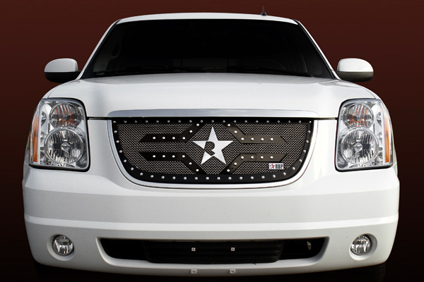 Gmc Yukon /Yukon Xl (includes Denali) 2007-2010 - Rbp Rx-2 Series Studded Frame Main Grille Black 1pc