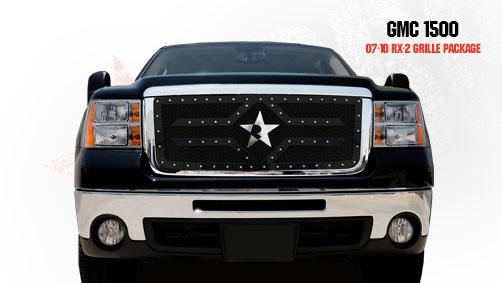 Gmc Sierra 1500 (except All - Terrain Edition) 2007-2011 - Rbp Rx-2 Series Studded Frame Main Grille Black