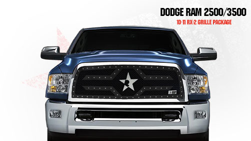 Dodge Ram 2500/3500 2010-2011 - Rbp Rx-2 Series Studded Frame Main Grille Black 1pc