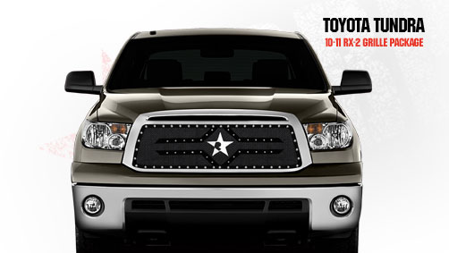 Toyota Tundra (except Limited) 2010-2011 - Rbp Rx-2 Series Studded Frame Main Grille Black
