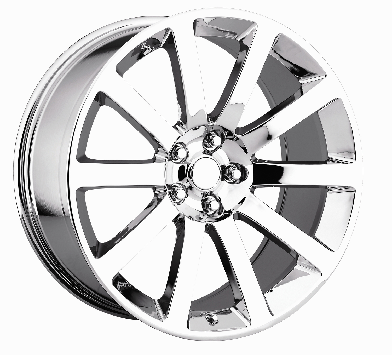 Chrysler 300C 2005-2010 22x9 5x115 +18 - SRT8 Style Wheel - Chrome With Cap 