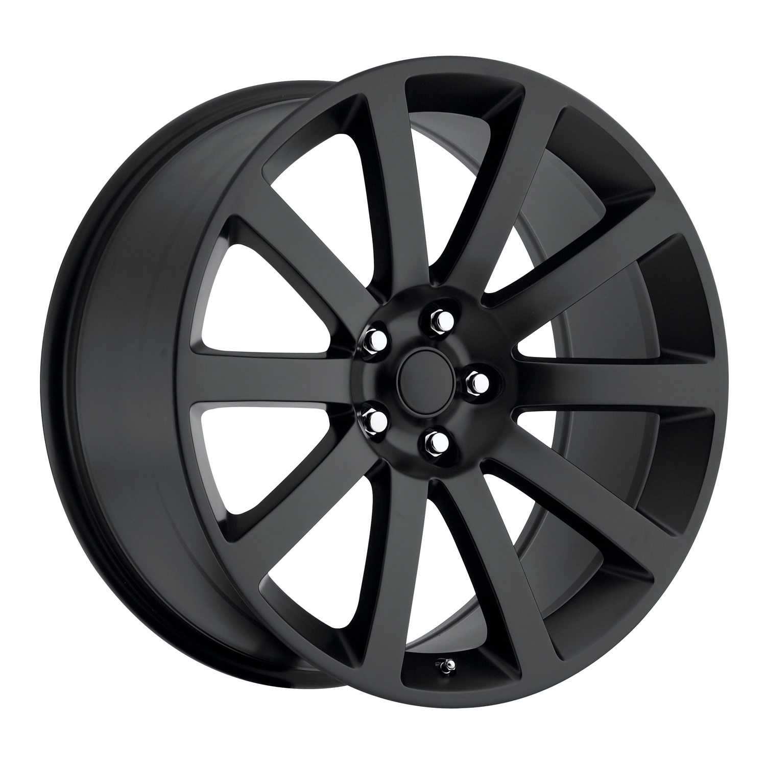 Chrysler 300C 2005-2010 22x9 5x115 +18 - SRT8 Style Wheel - Satin Black With Cap