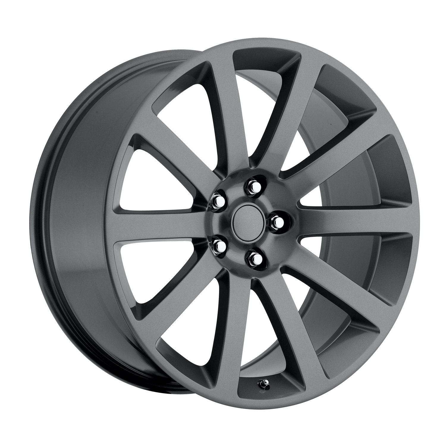 Chrysler 300C 2005-2010 22x9 5x115 +18 - SRT8 Style Wheel - Grey With Cap