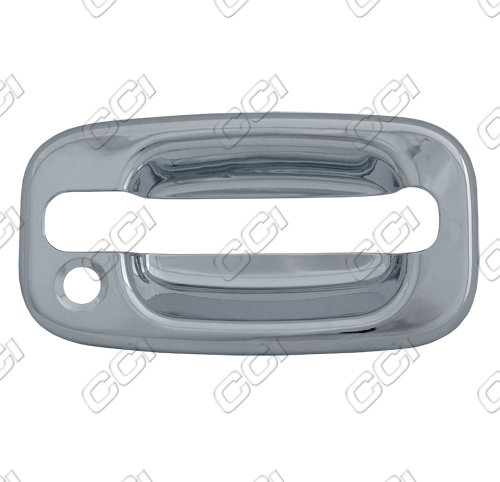Chevrolet Avalanche 2002-2006 (4 Door)  Chrome Door Handle Covers  (Bases Only)