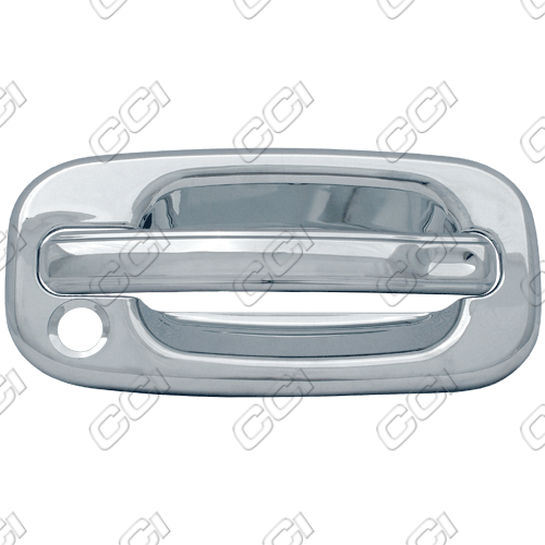 Chevrolet Avalanche  2002-2006 4 Door,  Chrome Door Handle Covers -  w/ Passenger Keyhole (Bases Only)
