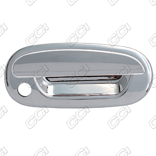 Ford F150  1997-2003 2 Door,  Chrome Door Handle Covers -  w/ Passenger Keyhole  w/o Keypad