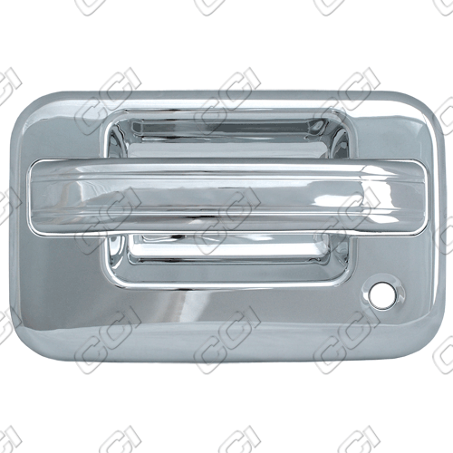 Ford F150  2004-2013 2 Door,  Chrome Door Handle Covers -  w/ Passenger Keyhole  w/ Keypad