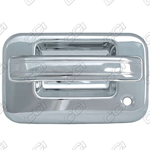 Ford F150  2004-2013 4 Door,  Chrome Door Handle Covers -  w/ Passenger Keyhole  w/o Keypad