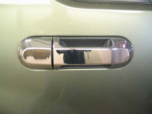 Lincoln Aviator 02-05 Chrome Door Handle Covers w/ Passenger Keyhole