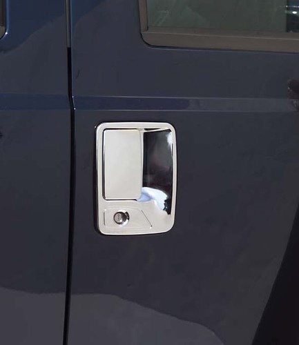 Ford Superduty 2 Door 97-05 Chrome Door Handle Covers w/ Passenger Keyhole