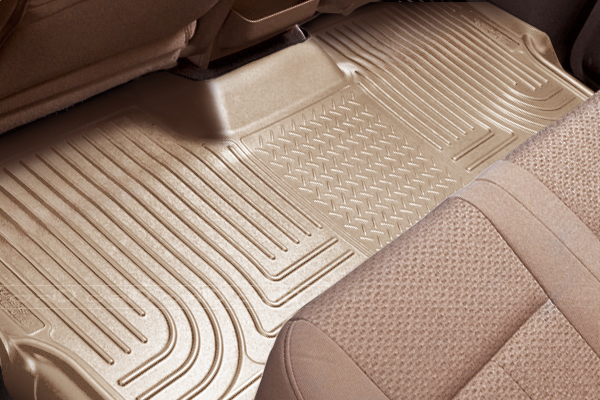 Chevrolet Suburban 2007-2010 1500/2500,  Husky Classic Style Series 3rd Seat Floor Liner - Tan