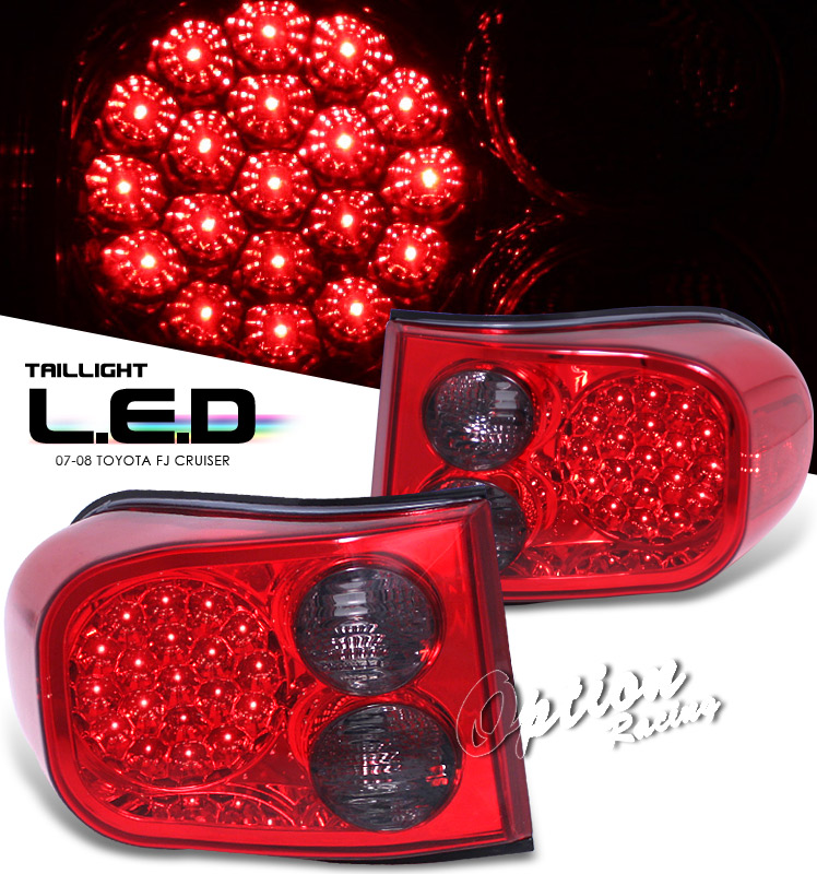 Toyota Fj 2007-2008  Red/Smoke Led Tail Lights