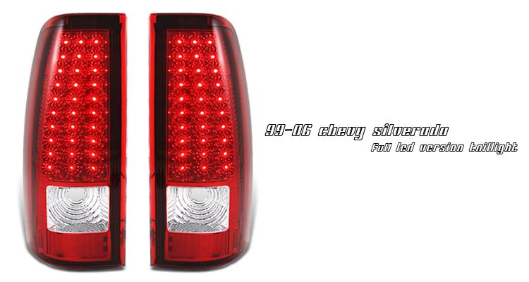Chevrolet Silverado 1999 2006 Red Led Tail Lights By Ks 75