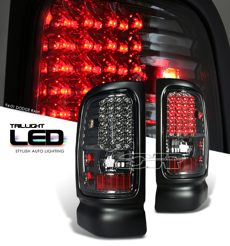 Dodge Ram 1994-2001  Smoke Led Tail Lights