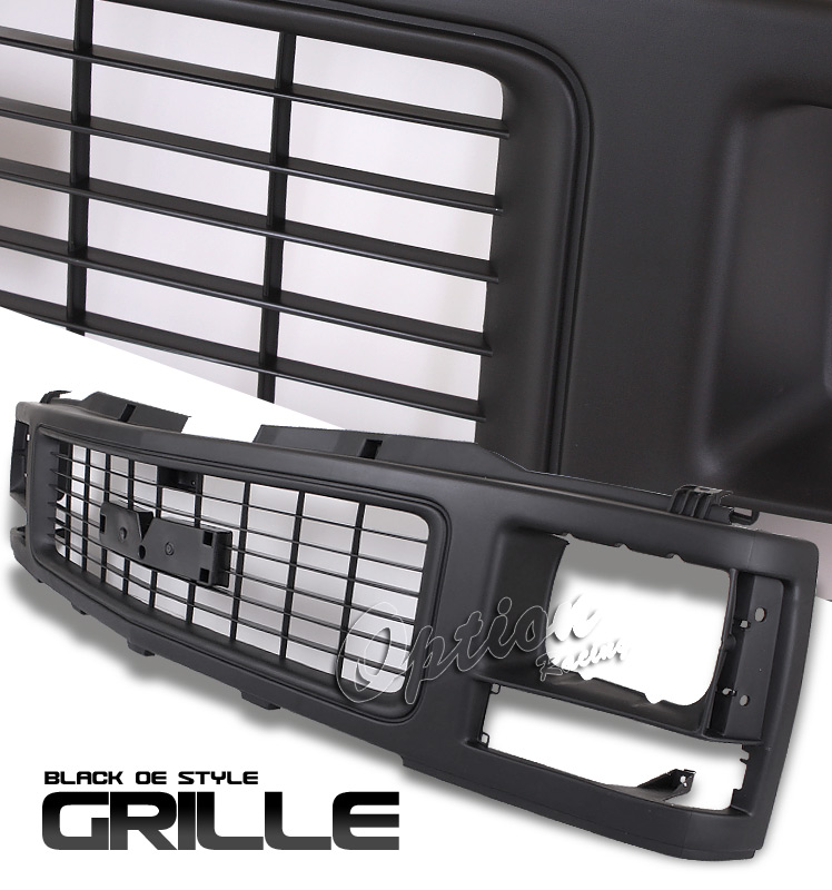 Gmc Full Size Pickup 1988-1993  Factory Style Black Front Grill
