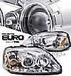 Honda Civic  1999-2000 Projector Headlights - Chrome Housing Clear Lens